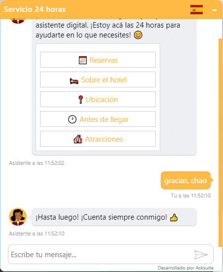 chatbot-despedida